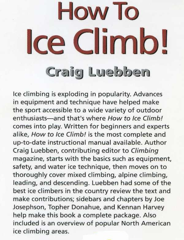 How to Ice Climb by Falcon Guides