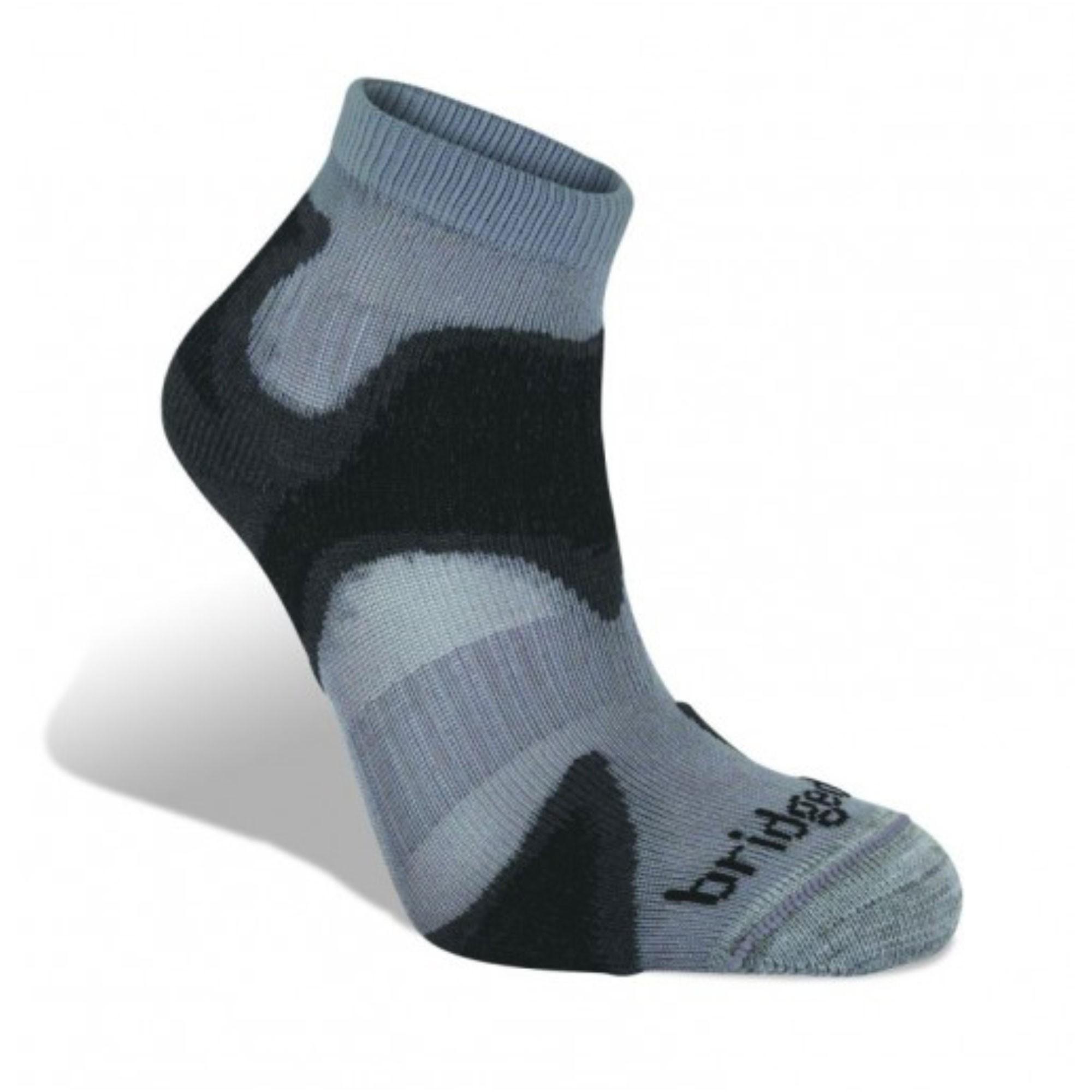 BRIDGEDALE - Speed Demon Socks - Gunmetal/Black