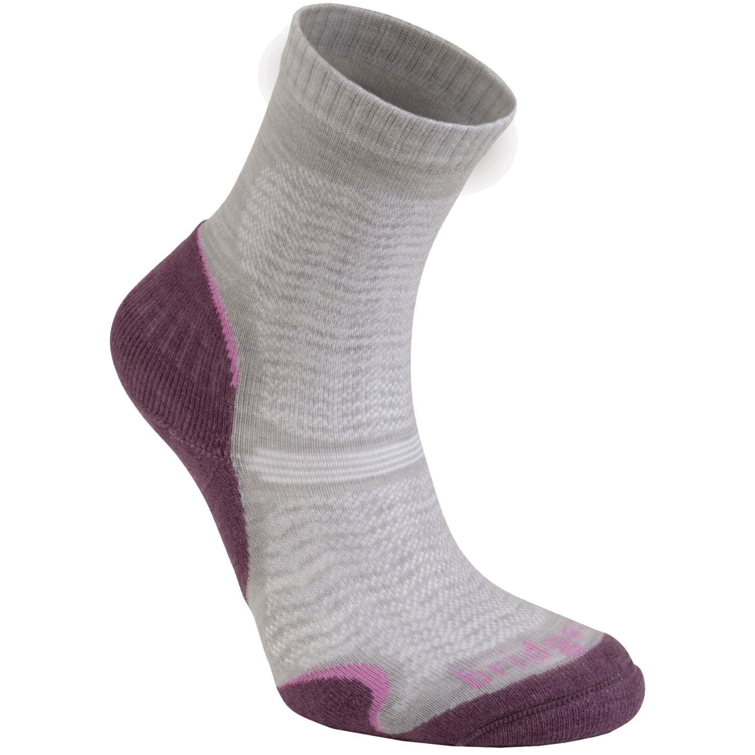 BRIDGEDALE - Ultra Light WoolFusion Women's Sock - Aubergine