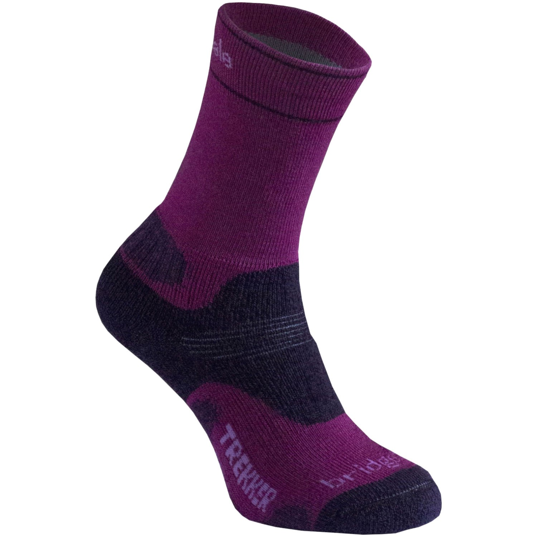 BRIDGEDALE - Trekker WoolFusion Women's Sock - Berry