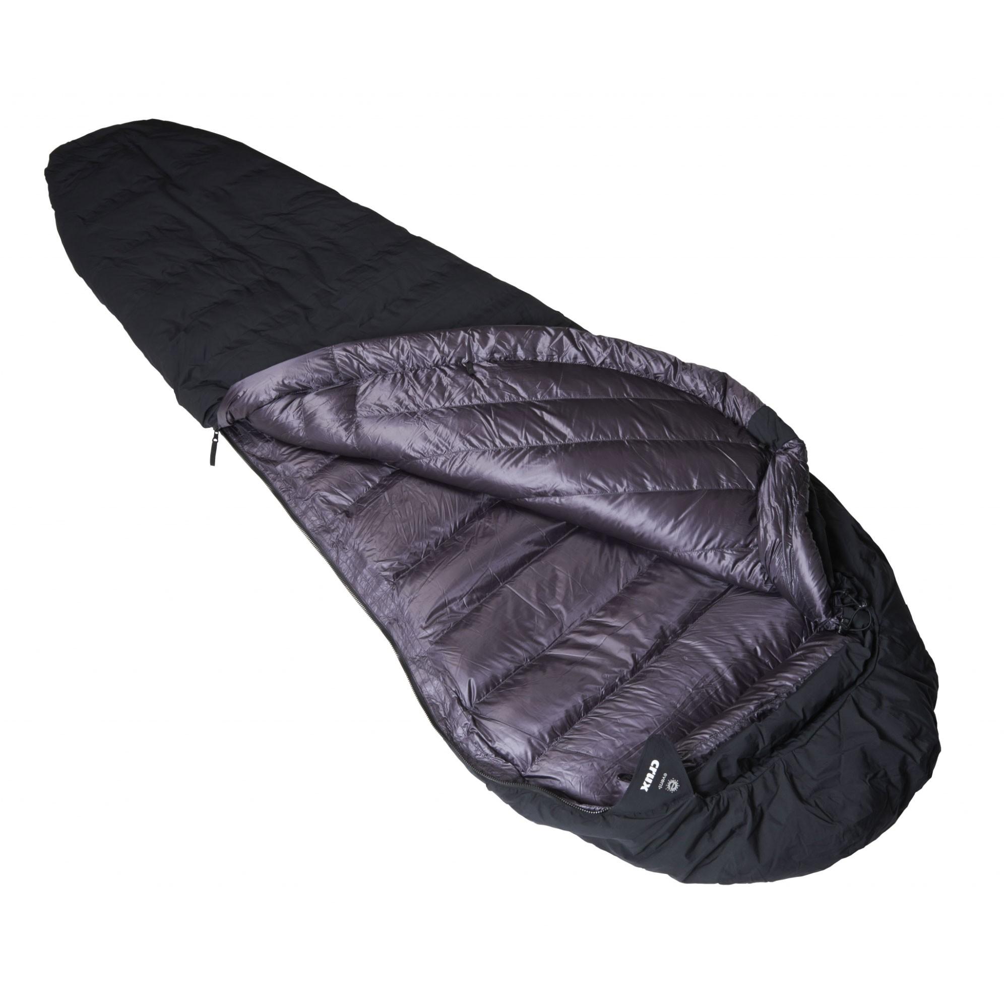 Crux Torpedo 350 Waterproof Down Sleeping Bag - Black/Anthracite