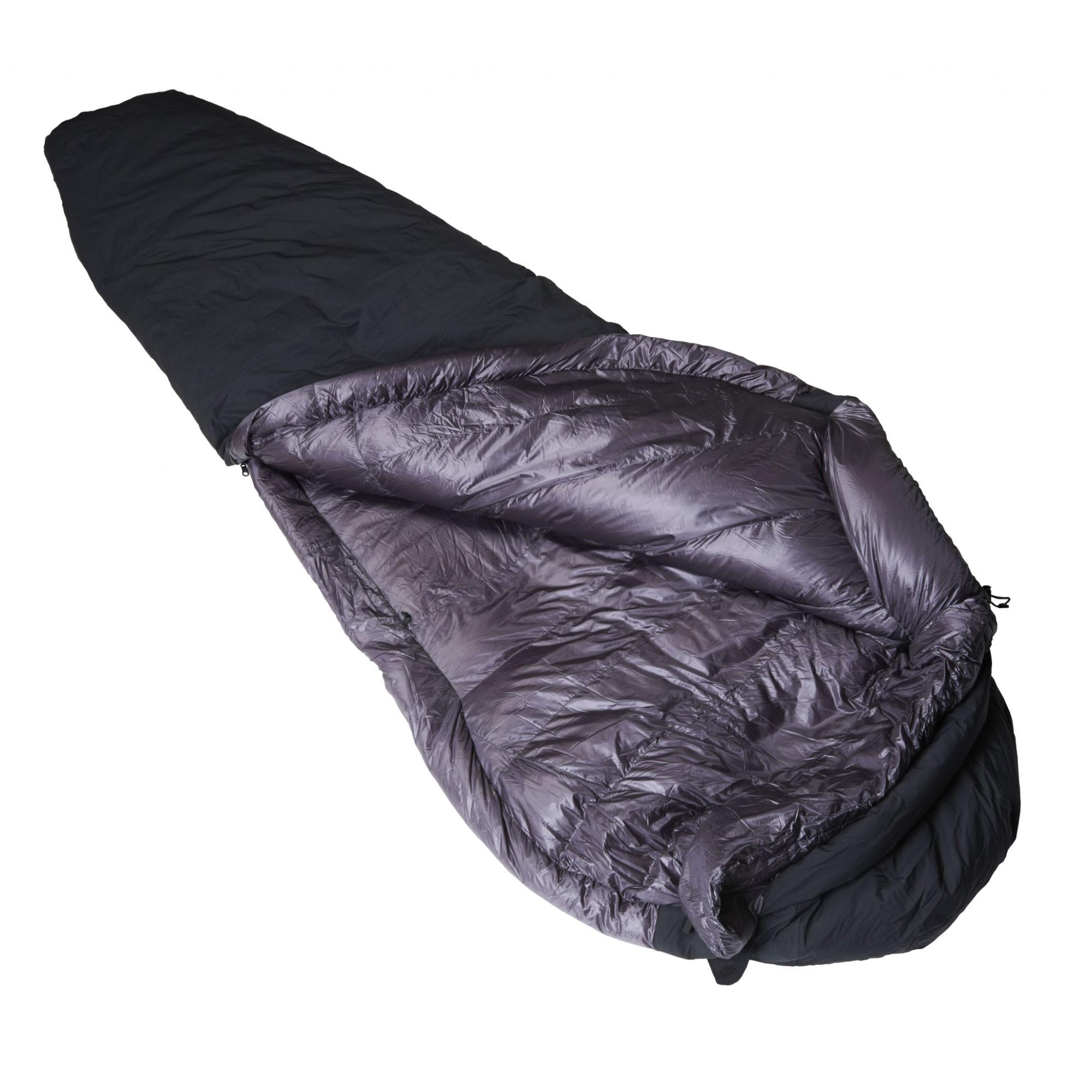 Crux Torpedo 500 Waterproof Down Sleeping Bag - Black/Anthracite