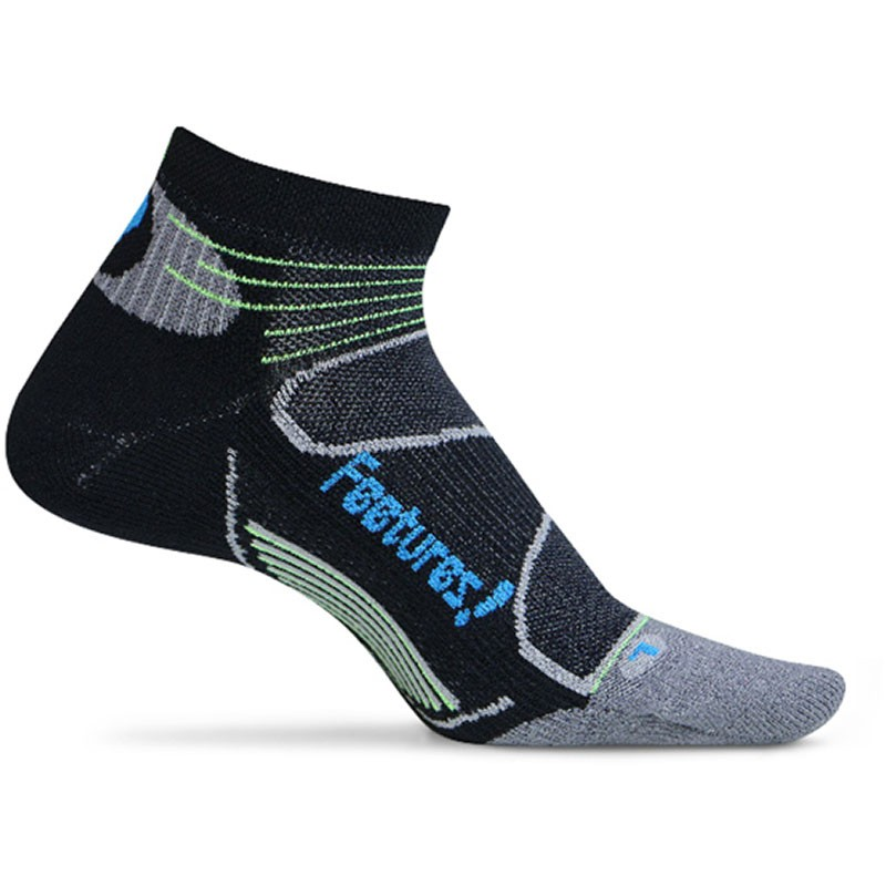 Feetures Elite Light Cushion Low Black and Brilliant Blue