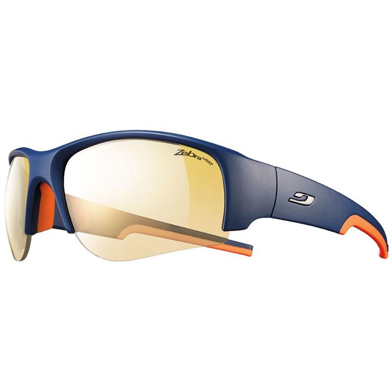 Julbo Dust Sunglasses with Zebra Light 1-3 Lenses - Blue/Orange