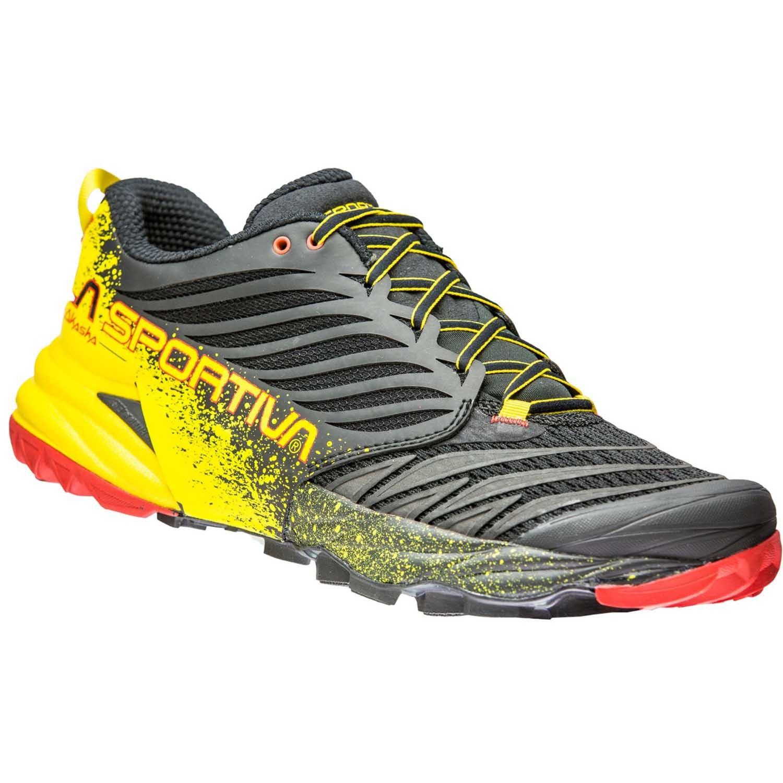 LA SPORTIVA - Akasha Trail Running Shoe - Black/Yellow