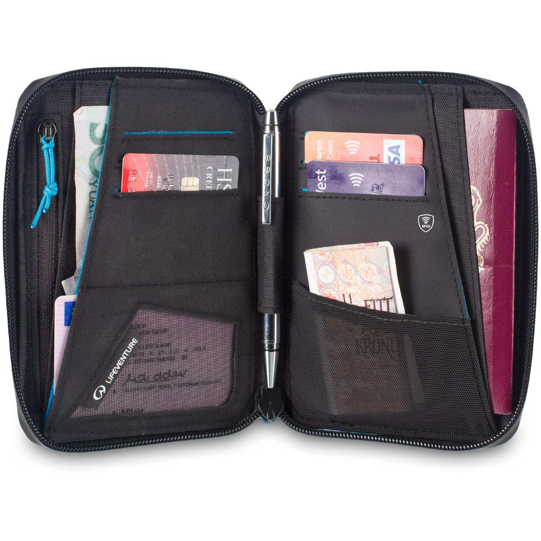 Lifeventure RFiD Mini Document Wallet Grey