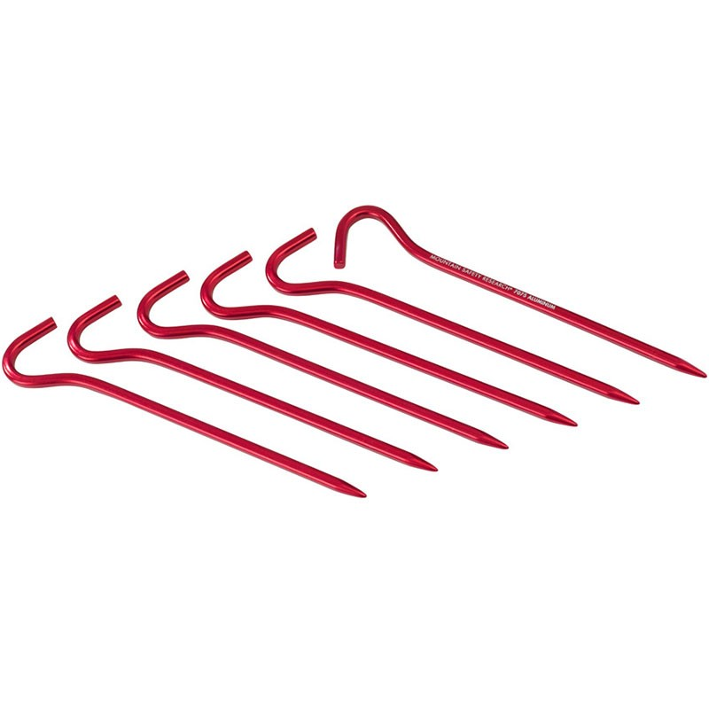 MSR Hook Tent Stakes - Red