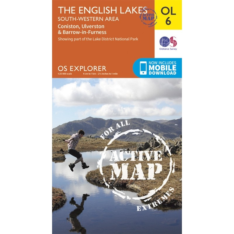 OL6 The English Lakes: South-Western area ACTIVE: Coniston Ulverston & Barrow-in-Furness by Ordnance Survey