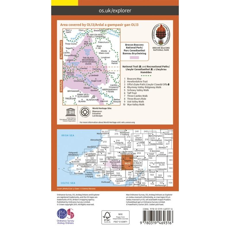 OL13 Brecon Beacons National Park - Parc Cenedlaethol Bannau Brycheiniog: Eastern area - Ardal gorll by Ordnance Survey