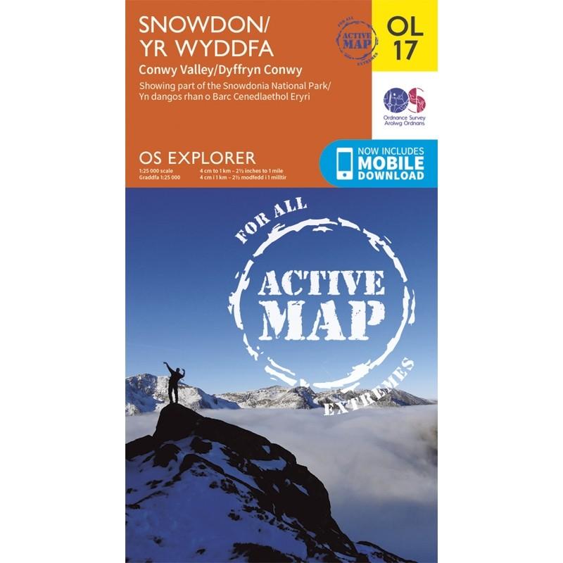 OL17 Snowdon Yr Wyddfa: ACTIVE: Conway Valley Dyffryn Conwy by Ordnance Survey