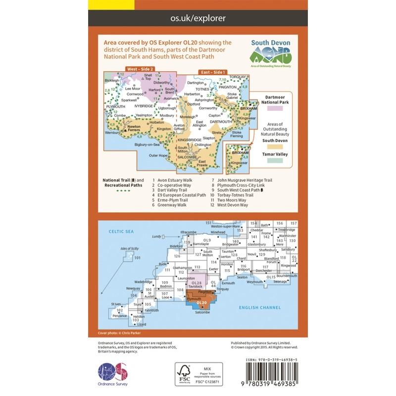 OL20 South Devon ACTIVE: Brixham to Newton Ferrers by Ordnance Survey