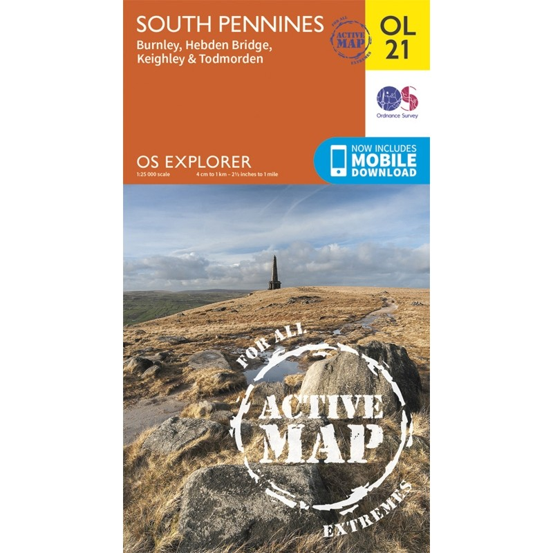OL21 South Pennines ACTIVE Burnley Hebden Bridge Keighley & Todmorden by Ordnance Survey