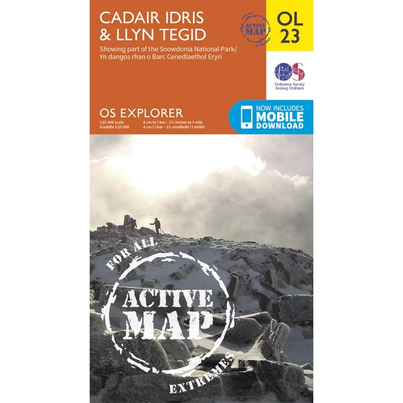 OL23 Cadair Idris & Llyn Tegid ACTIVE by Ordnance Survey