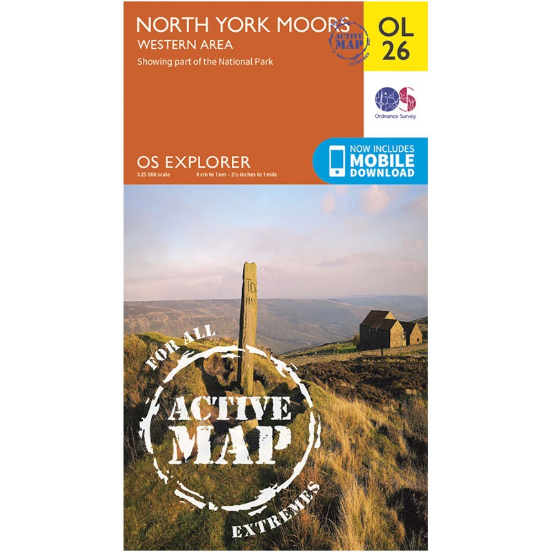 OL26 North York Moors: Western area ACTIVE by Ordnance Survey