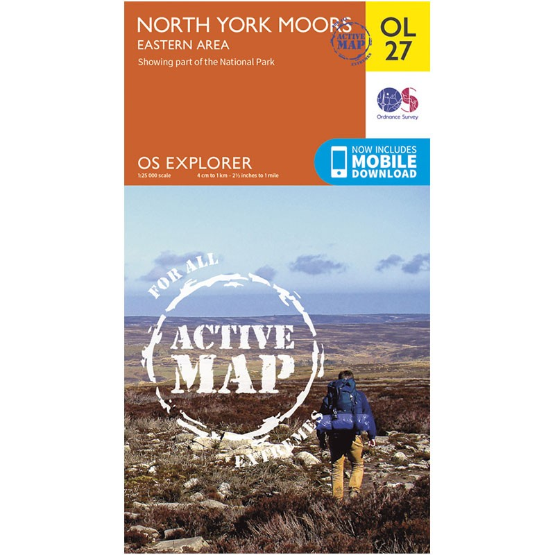 OL27 North York Moors: Eastern area ACTIVE by Ordnance Survey