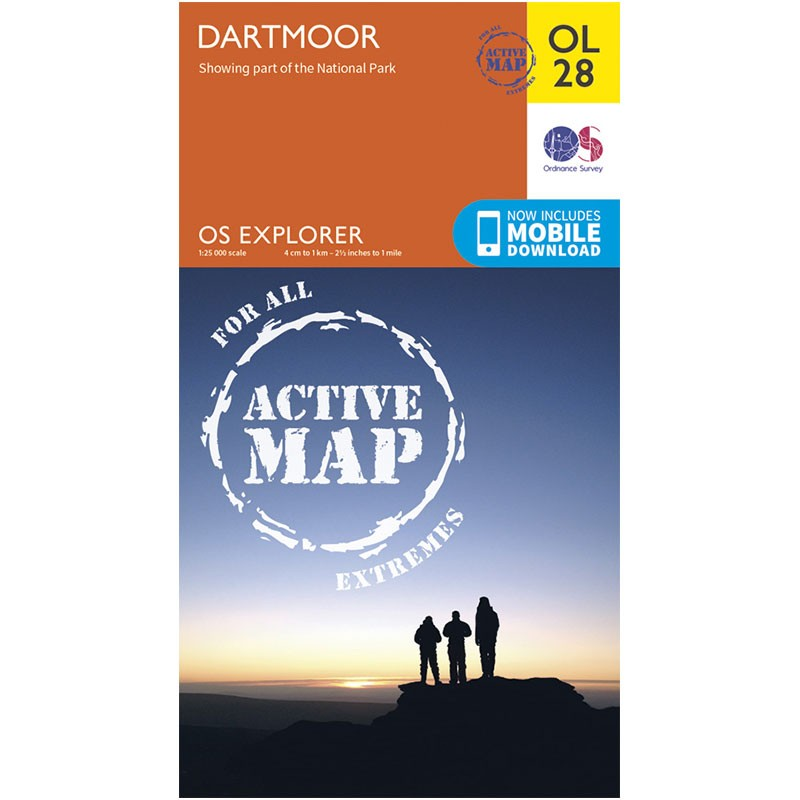 OL28 Dartmoor ACTIVE by Ordnance Survey
