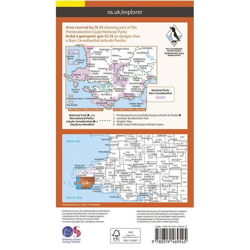 OL36 South Pembrokeshire /De Sir Benfro ACTIVE by Ordnance Survey
