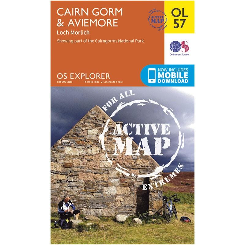 OL57 Cairn Gorm & Aviemore ACTIVE by Ordnance Survey