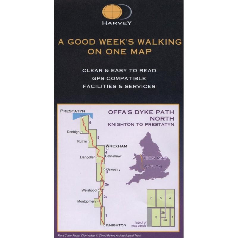 Offas Dyke Path North: Knighton to Prestatyn by Harvey