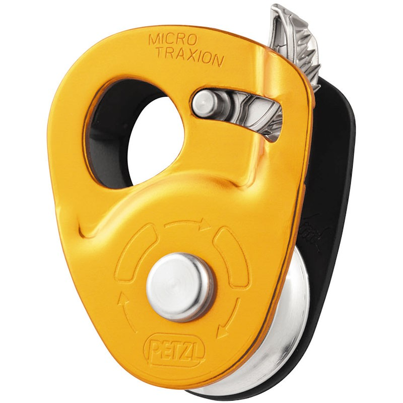 The Petzl Micro Traxion Capture Pulley - Orange