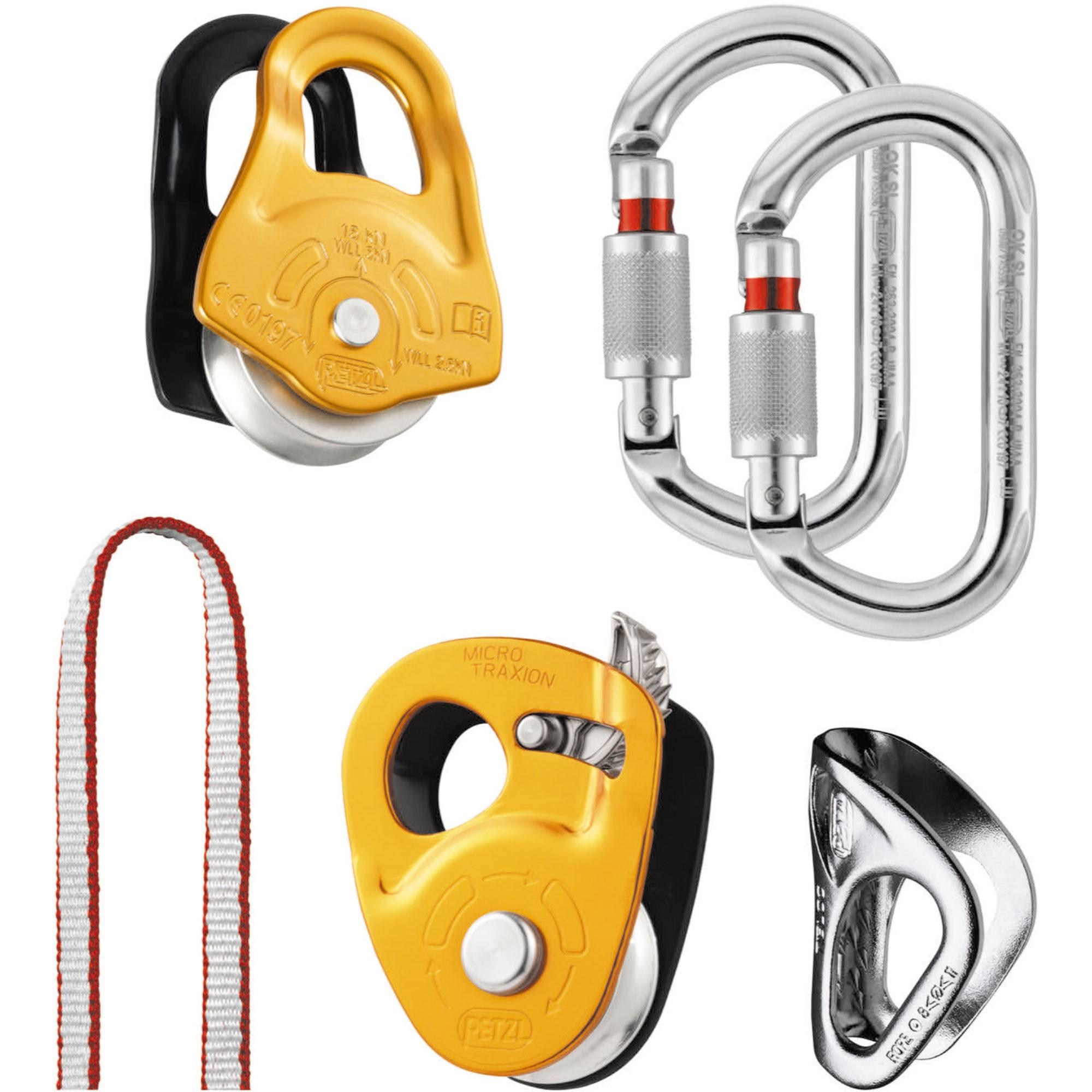 Petzl Crevasse Rescue Kit - Yellow/Aluminium