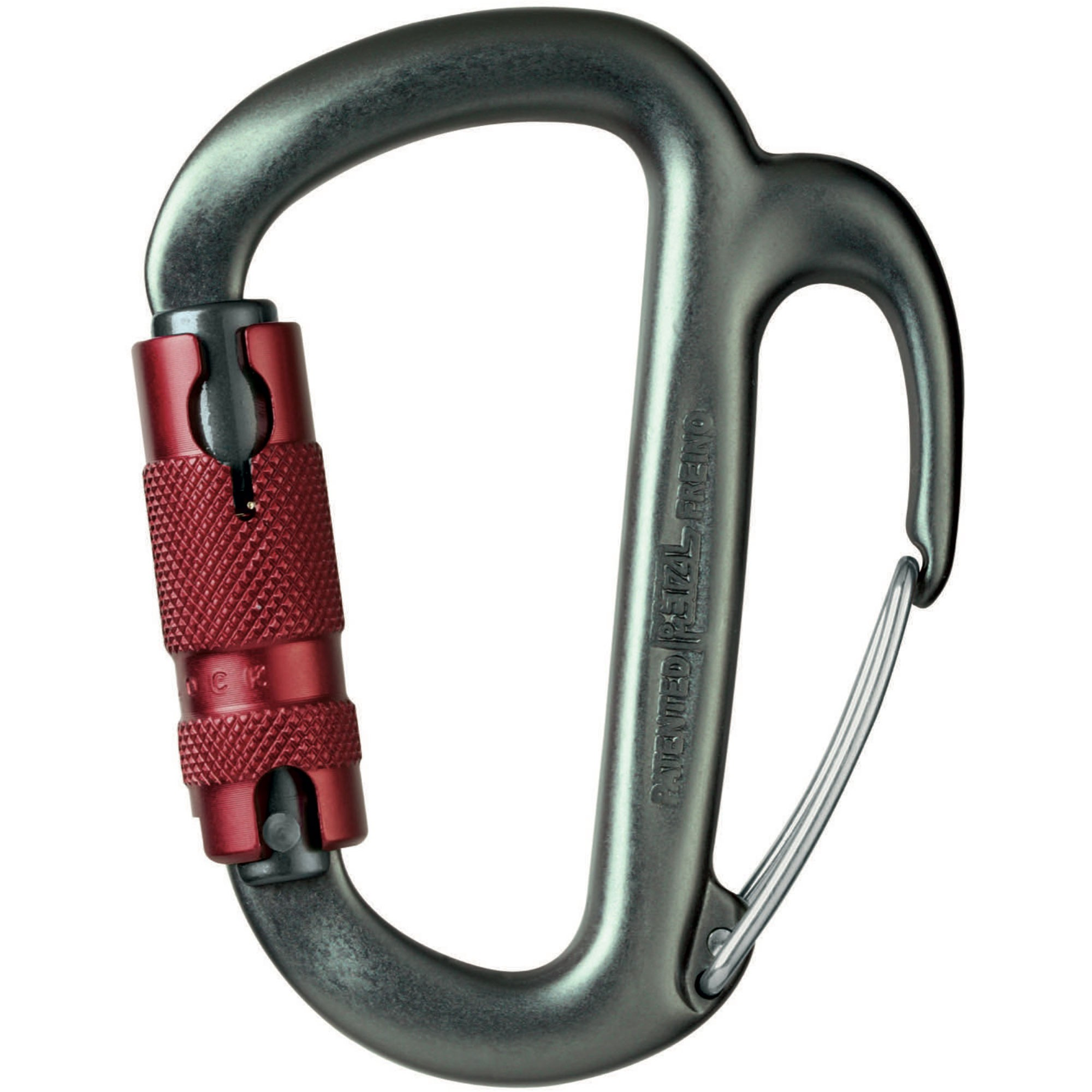 Petzl Freino Twistlock Karabiner Red