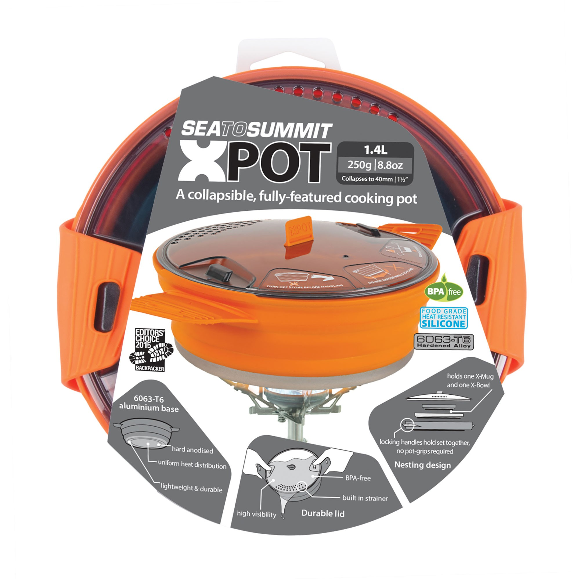 Sea to Summit X-Pot Orange 1.4L