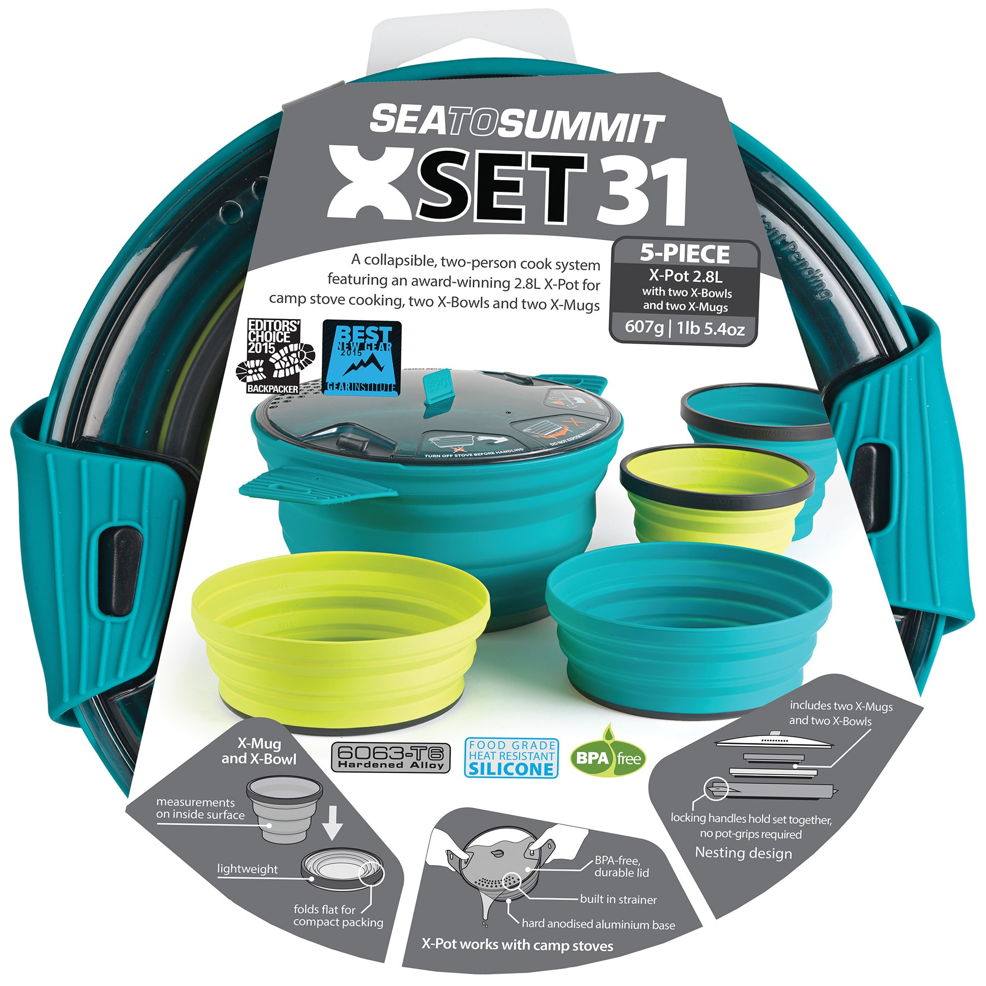 Sea to Summit X-Set 31 (5 Piece) Pacific Blue