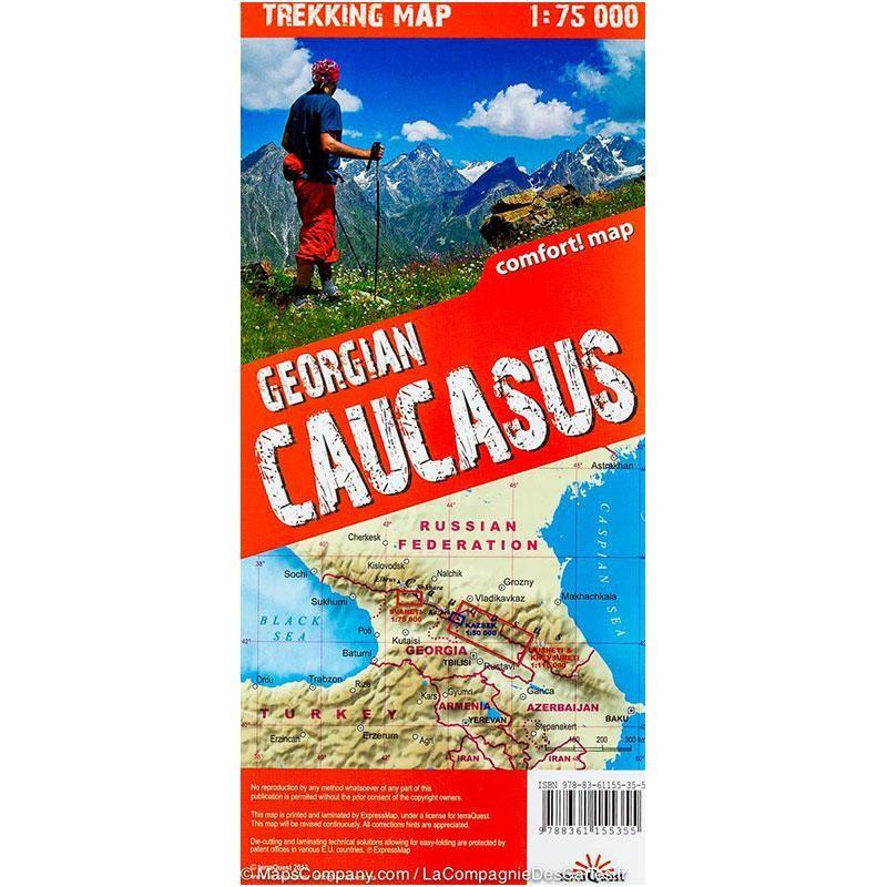 Georgian Caucasus Trekking Map
