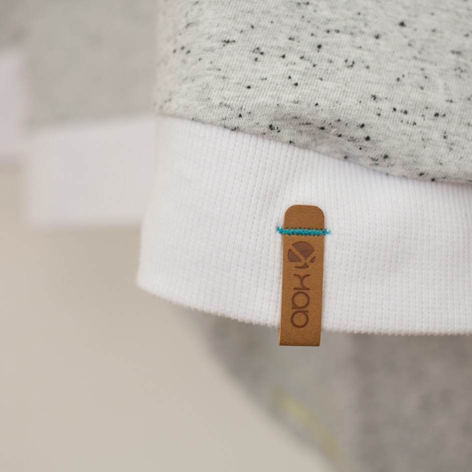 ABK Nordmann LS Women's Top - Light Granite - sleeve patch