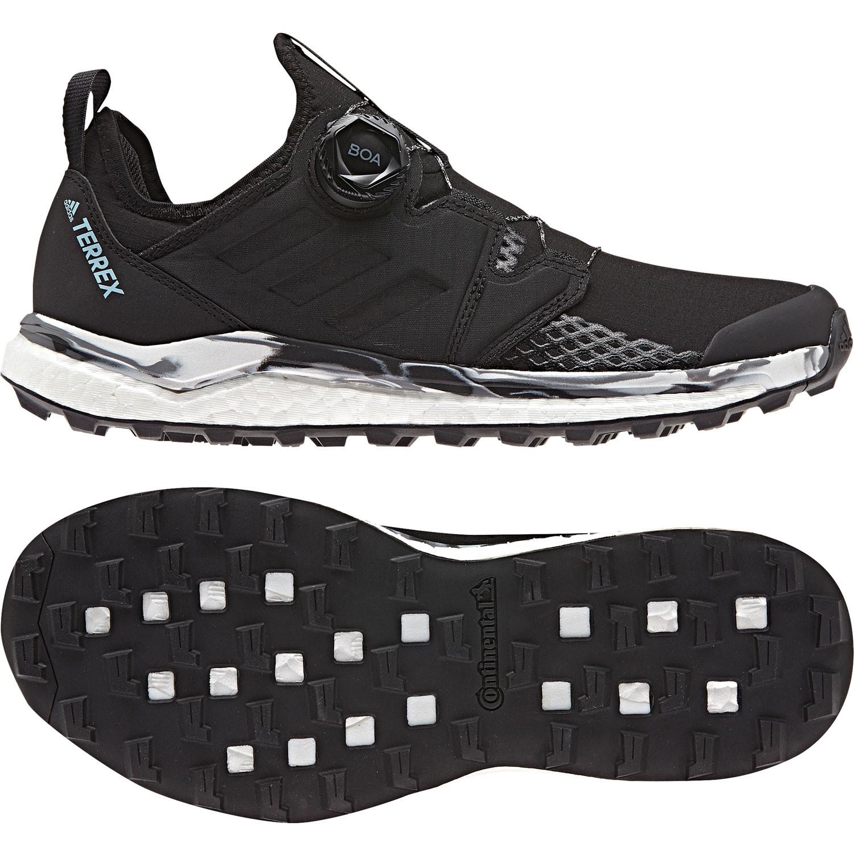 Adidas Terrex Agravic Boa Women's Trail Running Shoe - Core Black/Non-dyed/Carbon