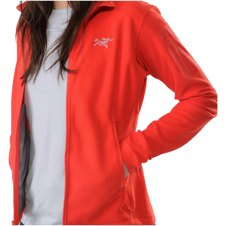Arc'teryx Delta LT Women's Fleece Jacket - Hard Coral - front view 2