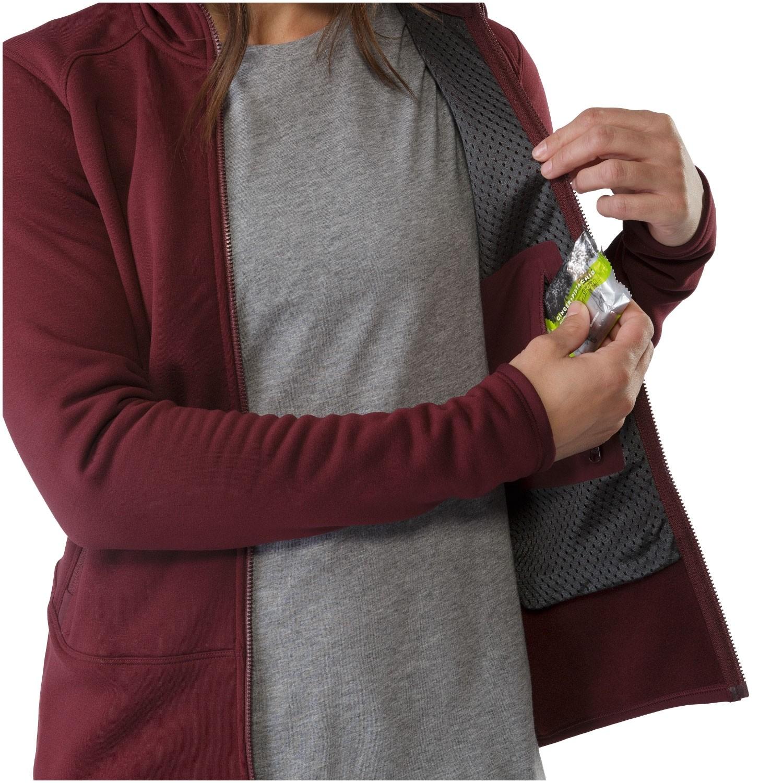Arc'teryx Kyanite Women's Hoody - Crimson - internal pocket