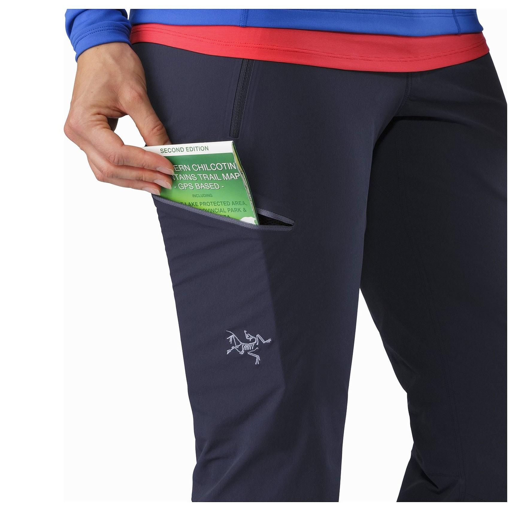 Arc'teryx Gamma LT Women's Softshell Pant - Black Sapphire - thigh pocket