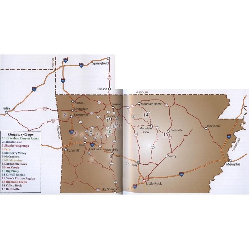 Arkansas Rock Climbing by Fixed Pin Publishing