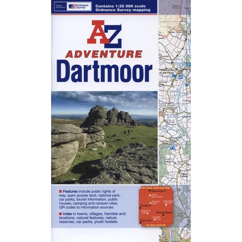 Dartmoor A-Z Adventure Atlas by A-Z
