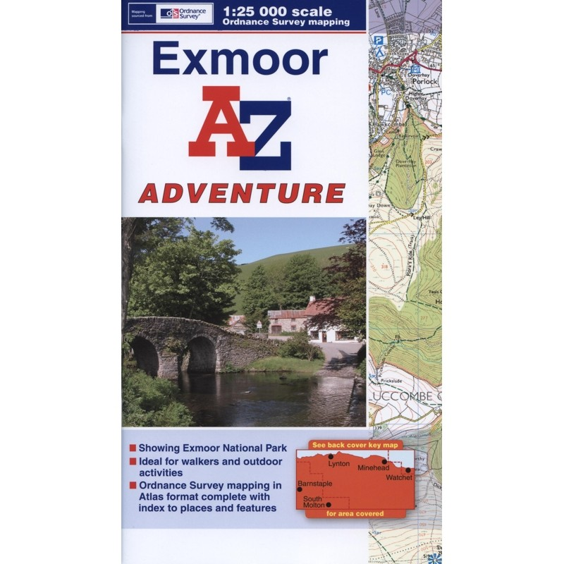 Exmoor A-Z Adventure Atlas by A-Z