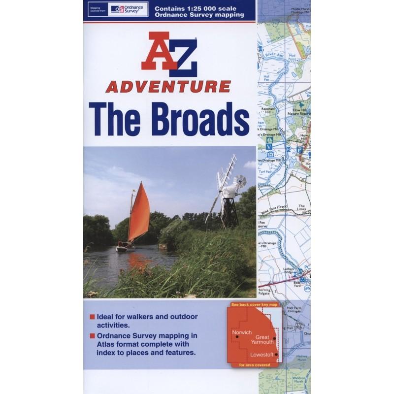 The Broads A-Z Adventure Atlas by A-Z