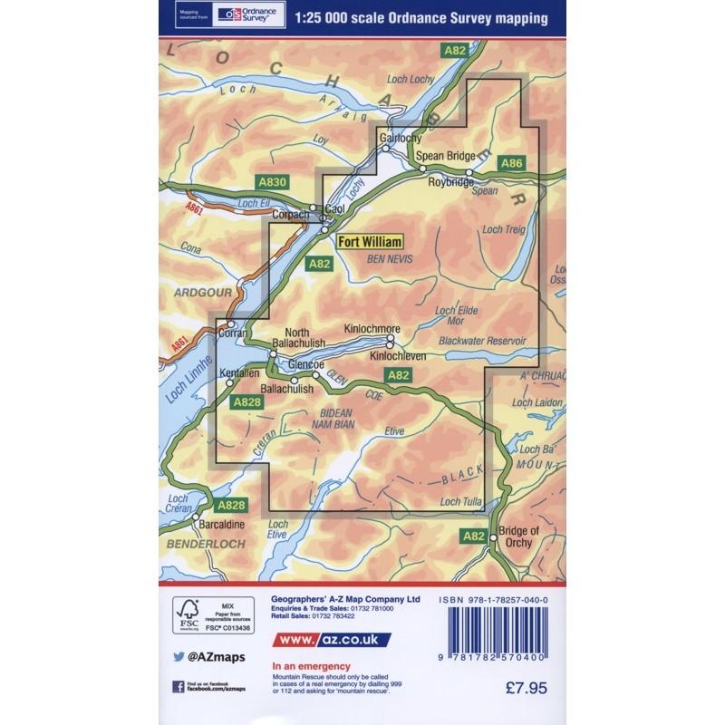 Ben Nevis & Glen Coe AZ Adventure Atlas