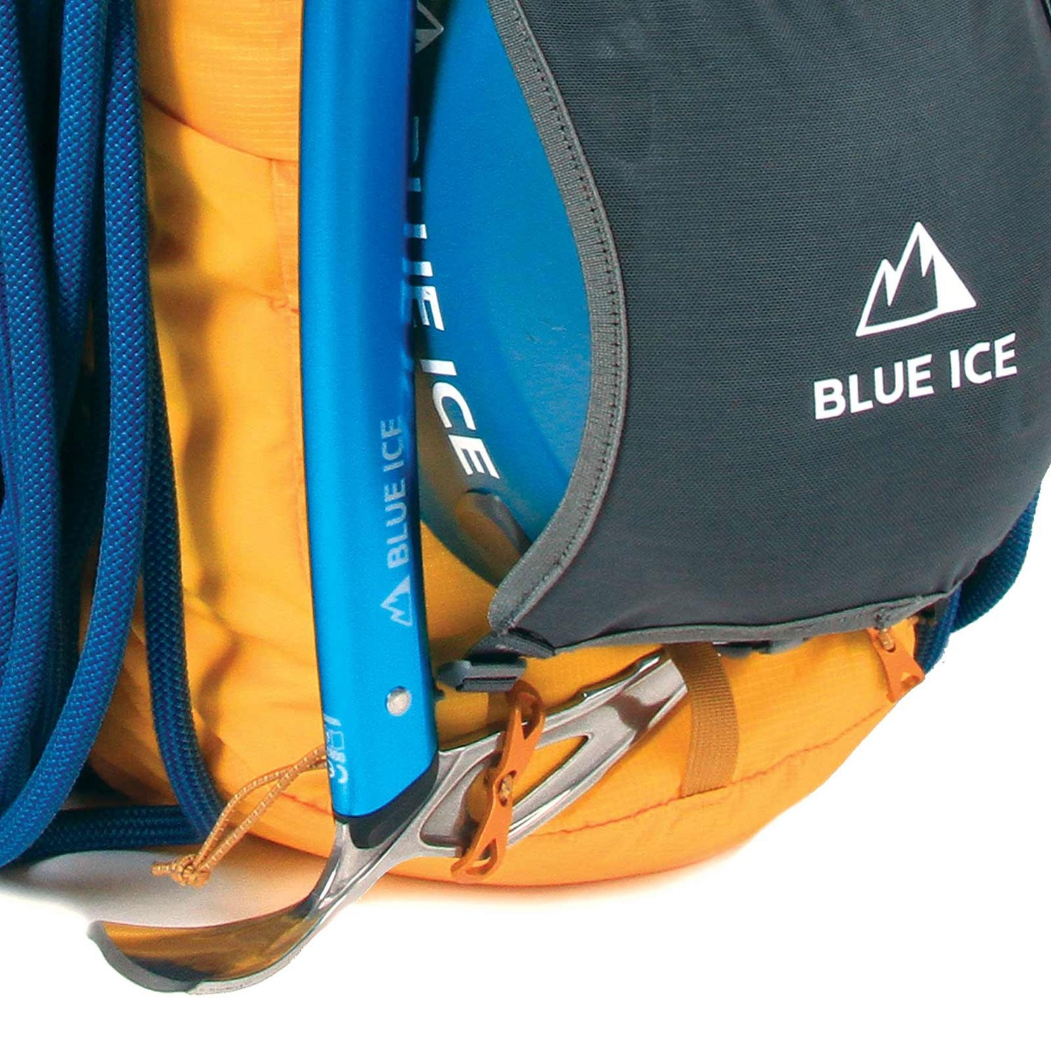 Blue Ice Dragonfly 25L Rucksack - Spectra Yellow - Ice axe buckle
