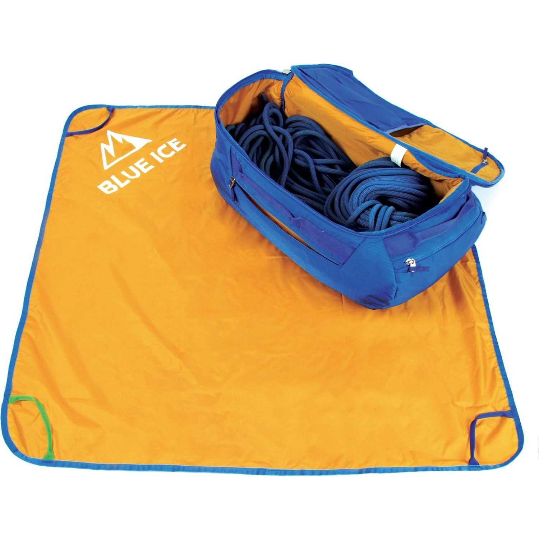 Blue Ice Octopus 45L Rucksack - Turkish Blue - bag open tarp