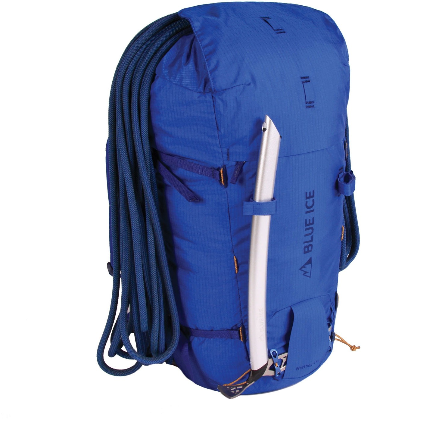 Blue Ice Warthog 45L Rucksack - Turkish Blue - rope ice axe