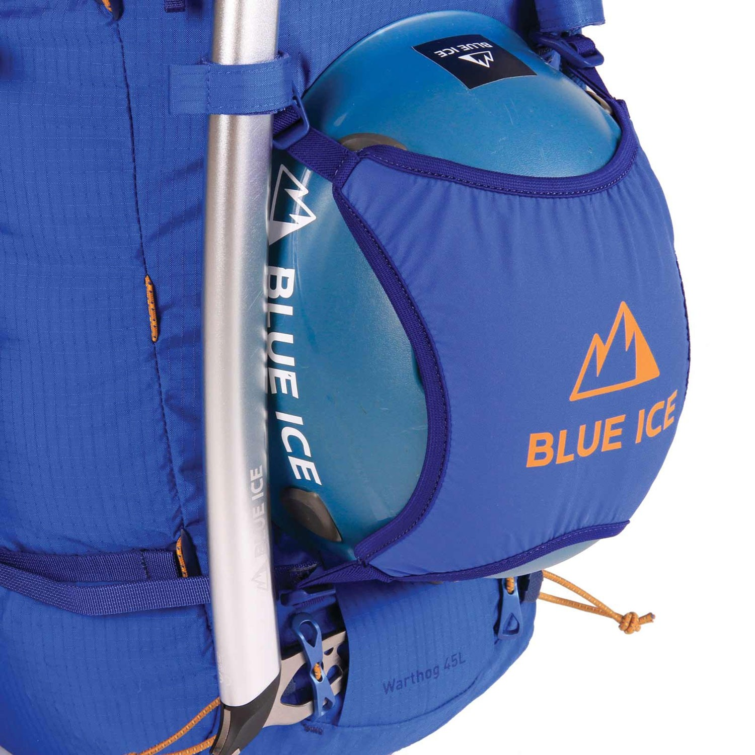 Blue Ice Warthog 45L Rucksack - Turkish Blue - ice axe & helmet holder