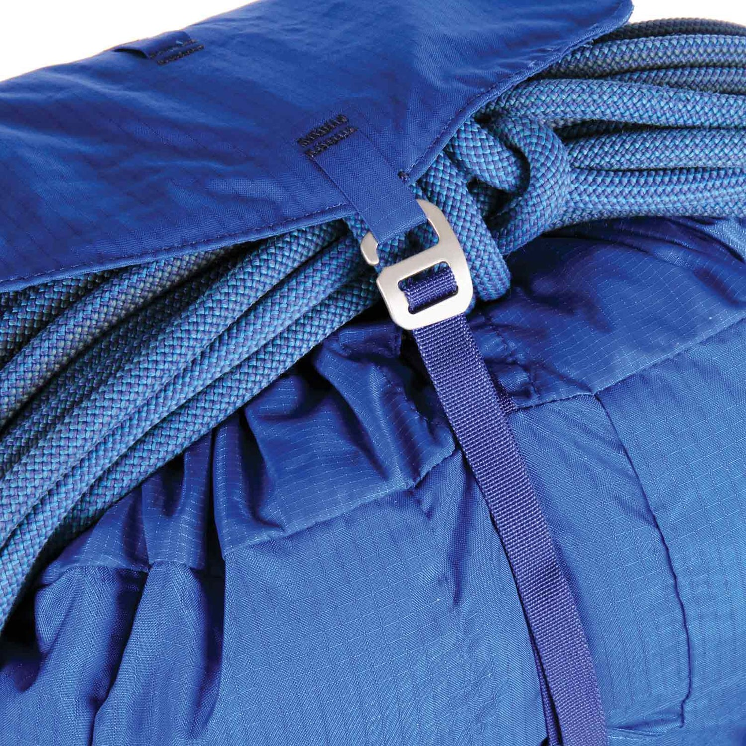 Blue Ice Warthog 45L Rucksack - Turkish Blue - rope holder