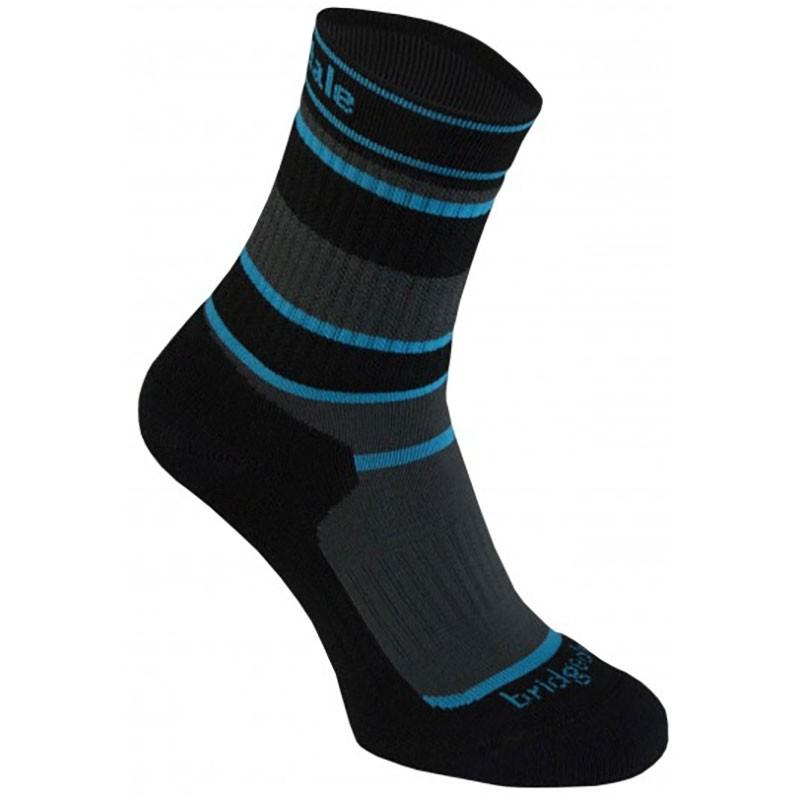 Bridgedale MERINOFusion Hiker Junior Sock - Grey/Black