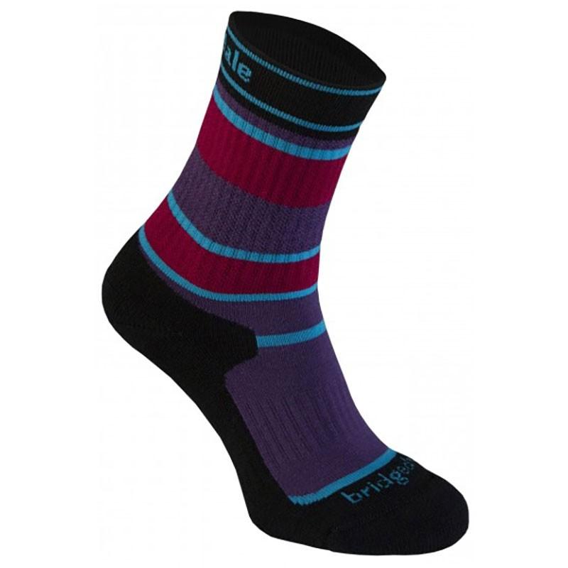 Bridgedale MERINOFusion Hiker Junior Sock - Purple/Black
