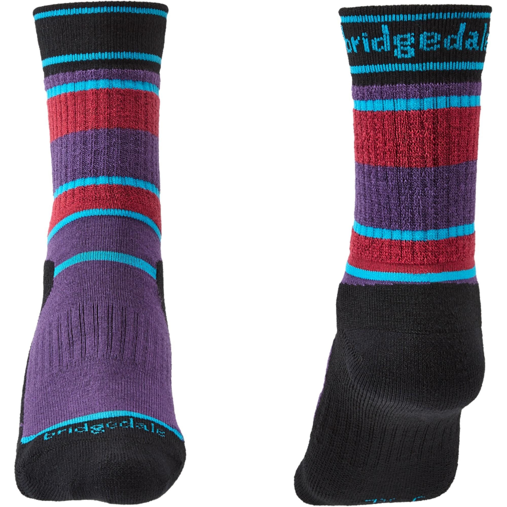 Bridgedale HIKE Junior All Season Merino Performance Socks  - Purple/Black