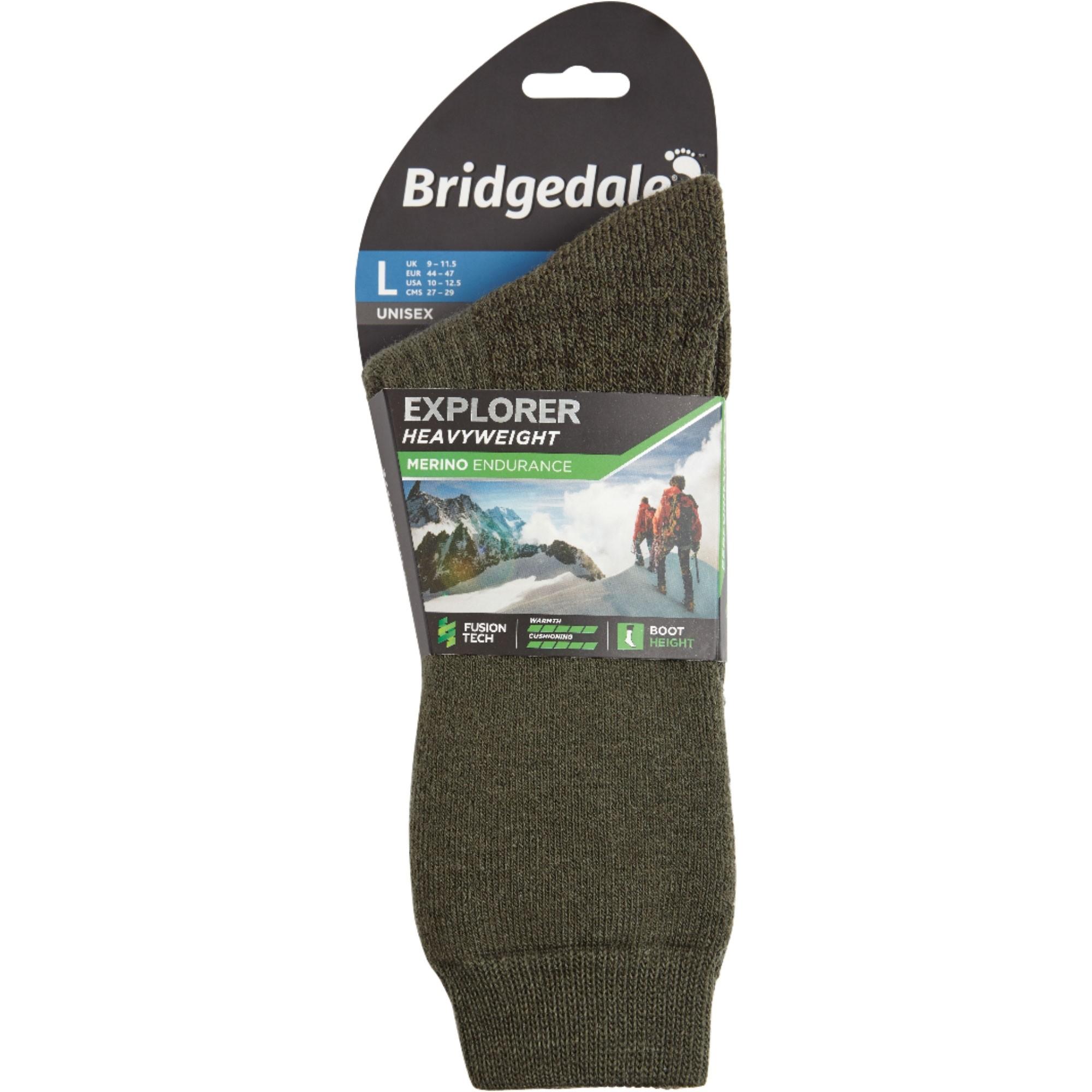 Bridgedale Explorer Heavyweight Merino Performance Socks - Olive