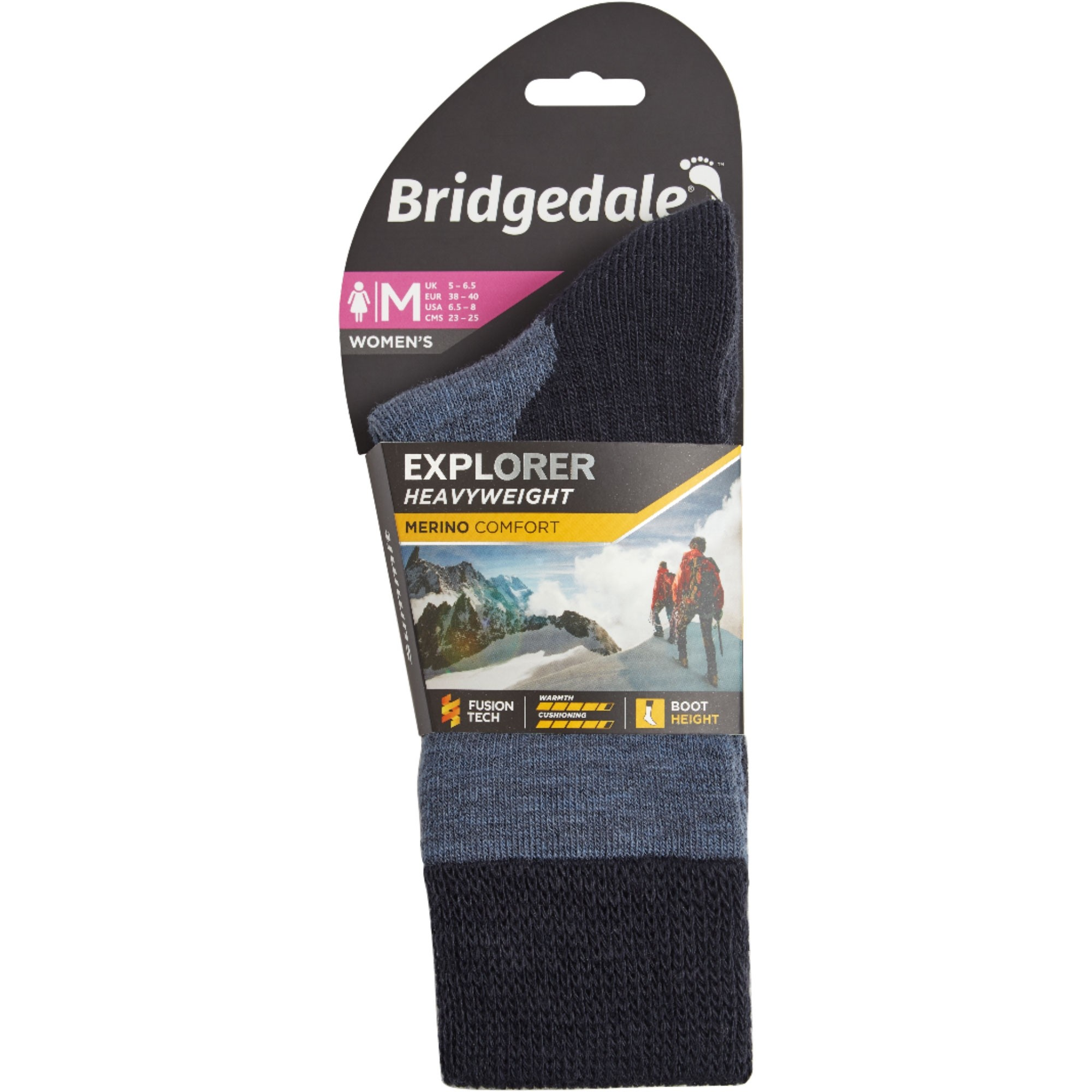 Bridgedale Explorer Heavyweight Merino Comfort Women's Socks - Storm Blue