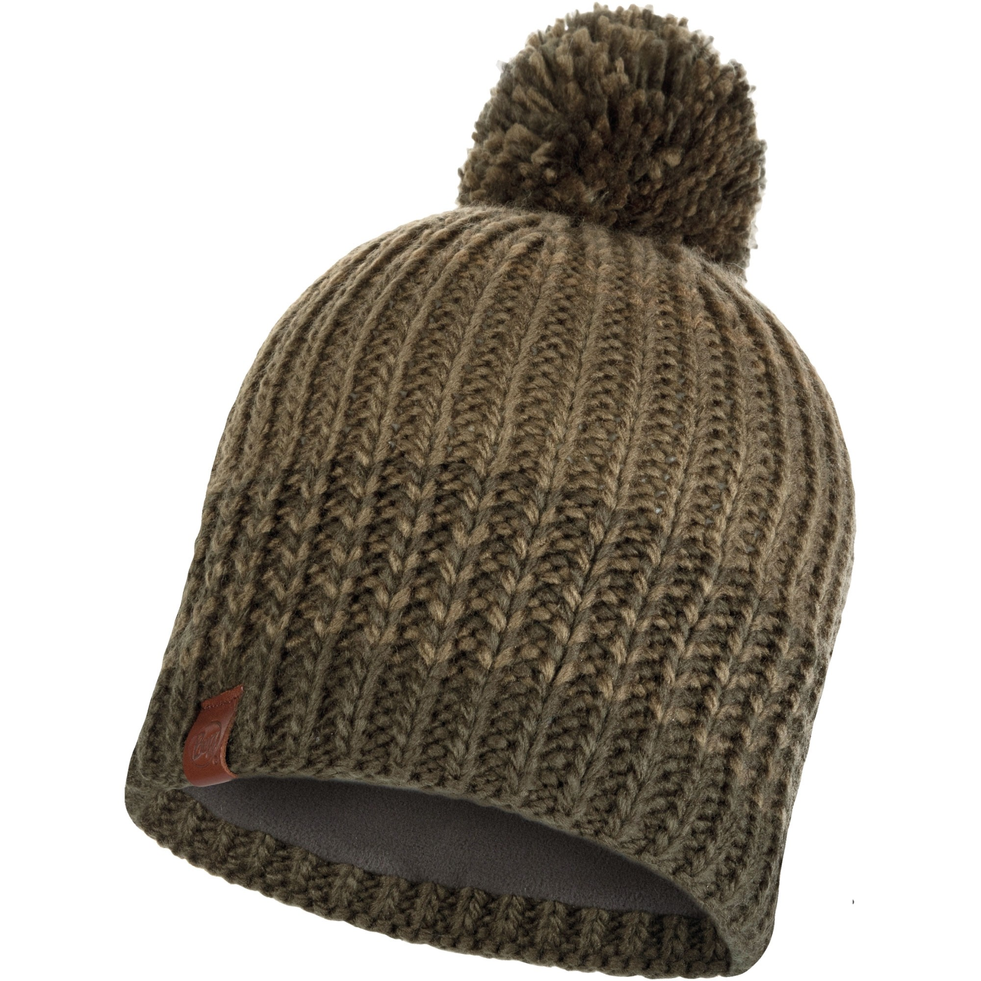 Buff Borae Knitted Hat - Khaki